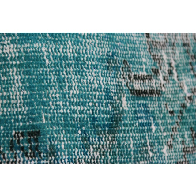 Turquoise Overdyed Pillow Covers - A Pair - Image 6 of 6