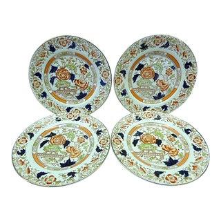 20th Century Chinoiserie Burgess & Leigh Gordon Burleigh Ware Imari Dessert Plates - Set of 4 For Sale