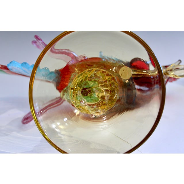 1950s Murano Italian Venetian Glass Rooster Figurine For Sale In New York - Image 6 of 13