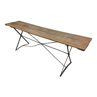 19th Century French Rustic Harvest Console Table For Sale