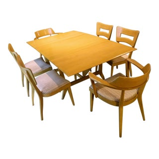Heywood-Wakefield Birch Dining Room Set - Set of 7 For Sale