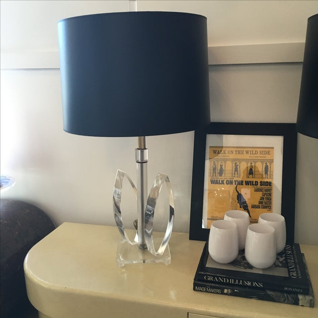 Mid Century Modern Sculptural Acrylic Table Lamp Attributed to Van Teal - Image 8 of 8