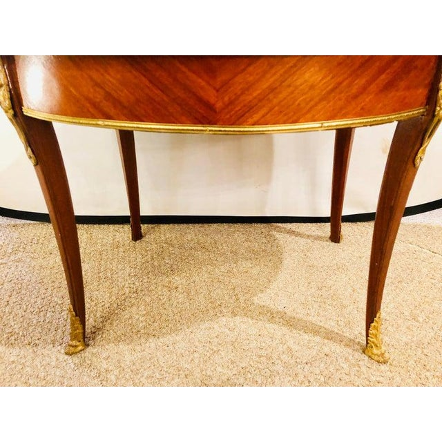 1920s Louis XVI Style Coffee or Low Table Walnut and Marble For Sale - Image 10 of 13