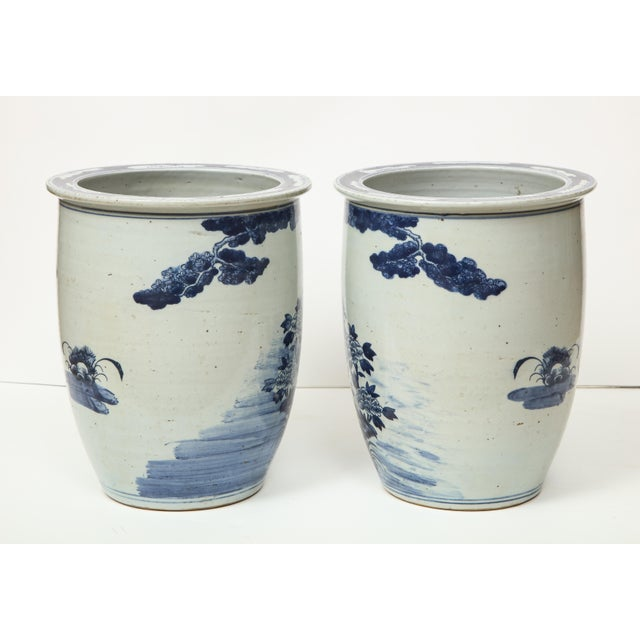 Chinese Blue and White Planters - A Pair For Sale - Image 11 of 13