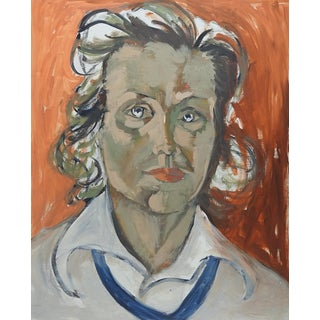 Modernist Portrait Painting of Woman For Sale