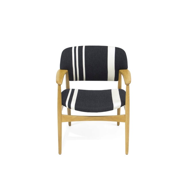 Pair of Aksel Bender Madsen for Fritz Hansen Oak Armchairs For Sale In San Francisco - Image 6 of 11