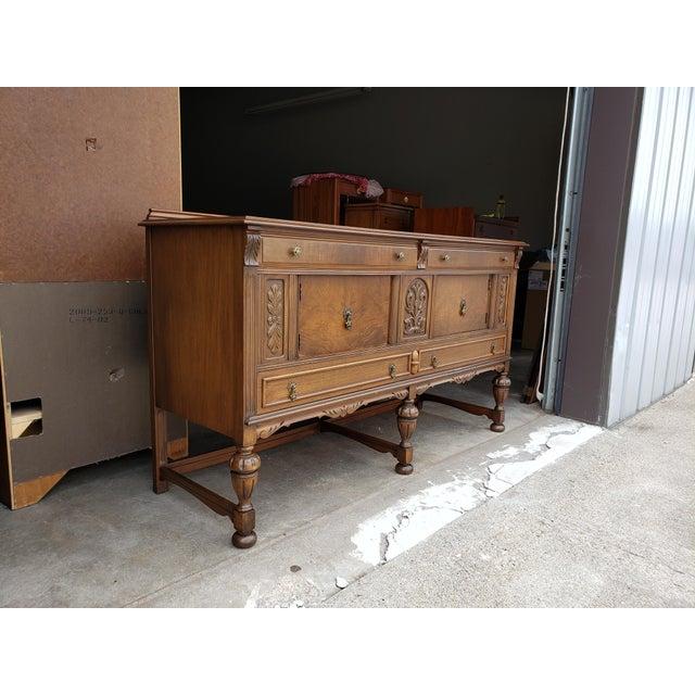 Restored Antique Landstrom Furniture Company Walnut Buffet