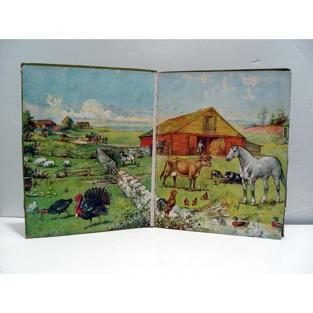 Traditional 1928 Animal Friends Story Book For Sale - Image 3 of 10