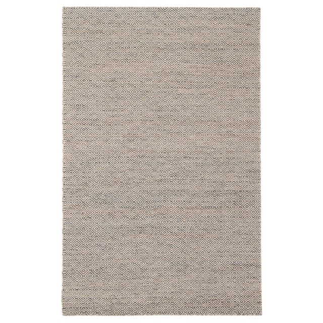 Jaipur Living Wales Natural Geometric Gray/ White Area Rug - 9′ × 12′ For Sale