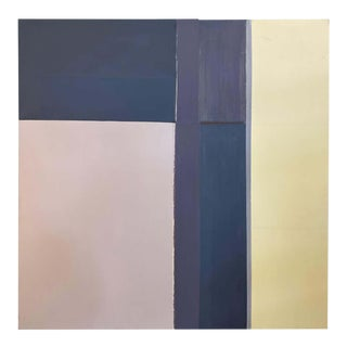 Robert English, Large Minimalist Abstract Color Field Painting (A), Early 1990s For Sale