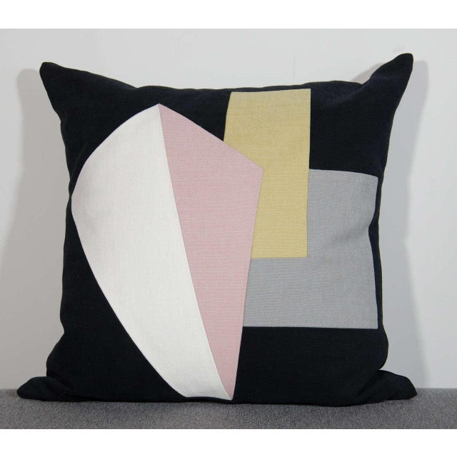 Architectural Italian Linen Throw Pillows by Arguello Casa For Sale In New York - Image 6 of 9