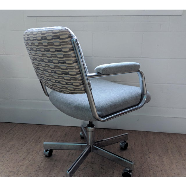 Blue Executive Office Chair - by Chromcraft For Sale - Image 8 of 11