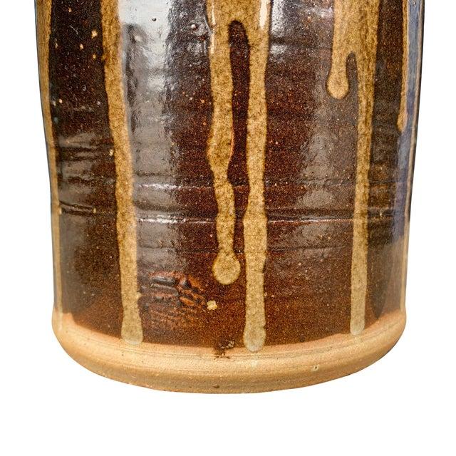 Vintage Studio Pottery Lidded Jar For Sale - Image 9 of 13