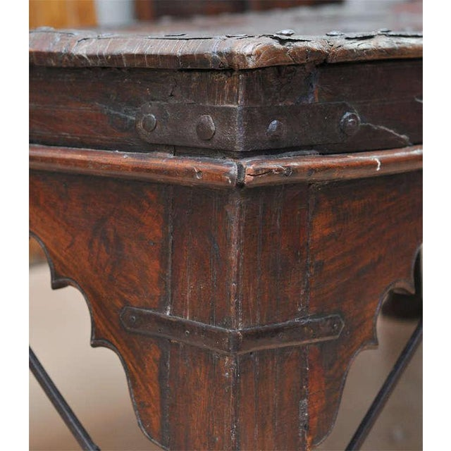 Indian Wood and Iron Table - Image 8 of 10