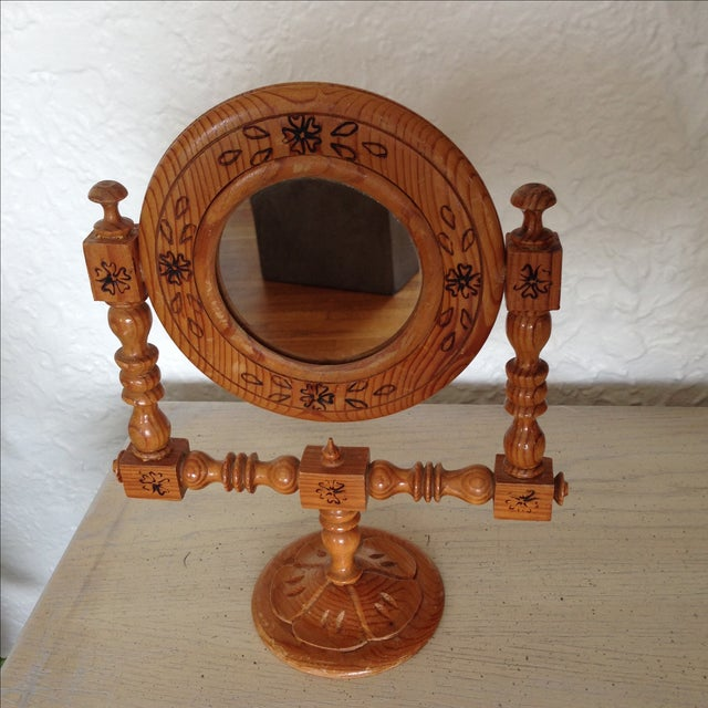 Moroccan Hand-Painted Vintage Mirror - Image 3 of 9