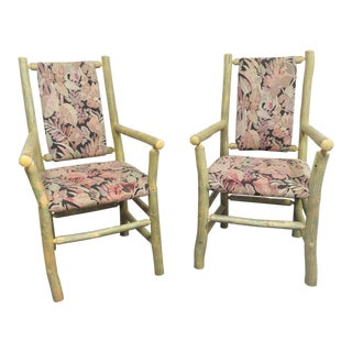 Old Hickory Adrirondack Style Chairs- a Pair For Sale