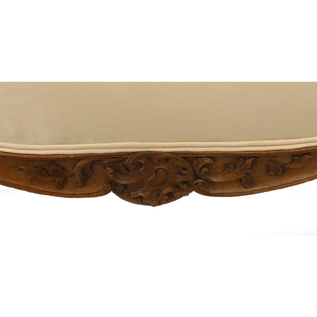 19th Century French Louis XV Walnut Settee For Sale - Image 5 of 7