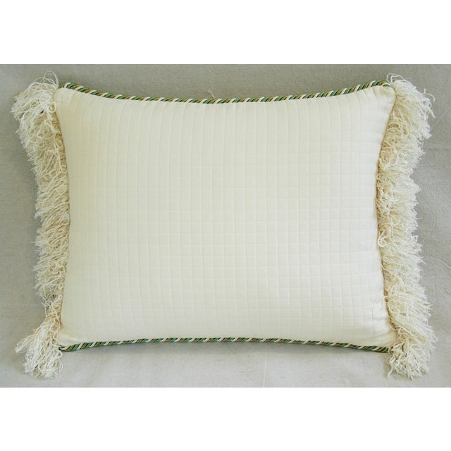 Designer English Harvest Pleated Silk Pillow - Image 5 of 5