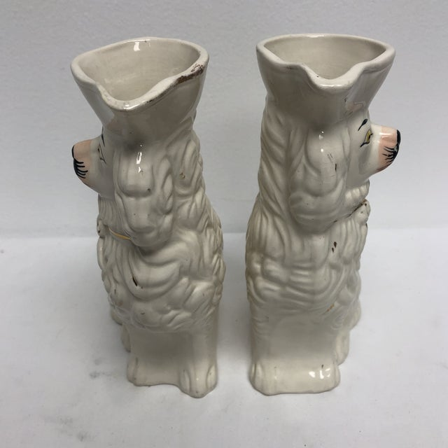 Ceramic Antique English Staffordshire Spaniel Pitchers - a Pair For Sale - Image 7 of 9
