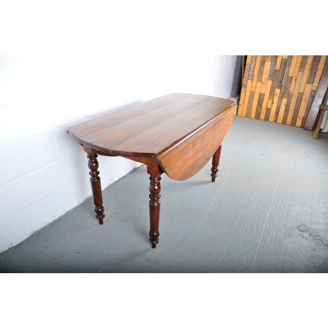 Antique French Country Style Pine Drop Leaf Oval Dining Table Chairish