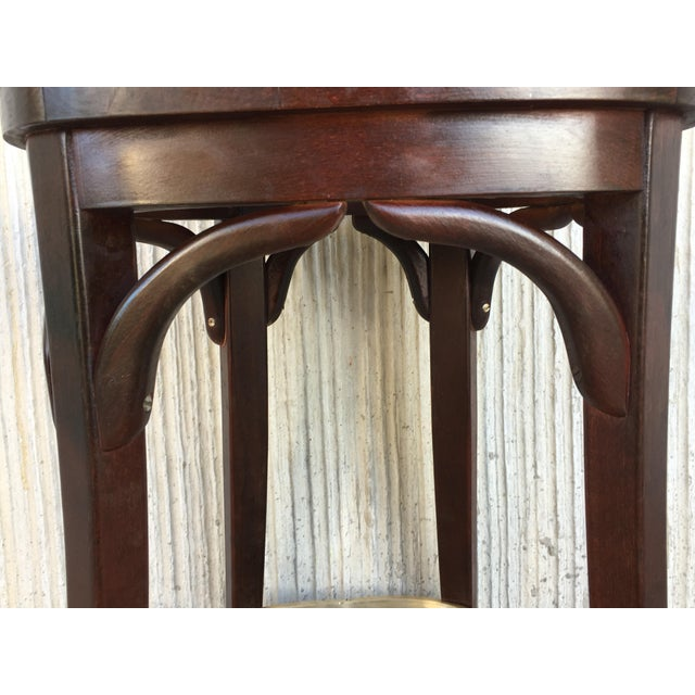 Set of Six Caned Seat and Wood Back Bar Stools For Sale - Image 11 of 13