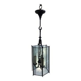 1920s Vintage Brass Bradley & Hubbard Hanging Lantern For Sale