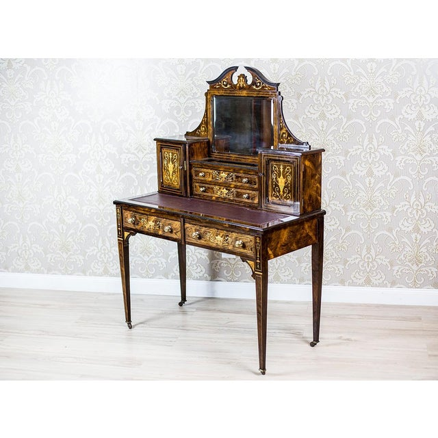 19th Century Lady's Desk Veneered with Rosewood For Sale - Image 9 of 13