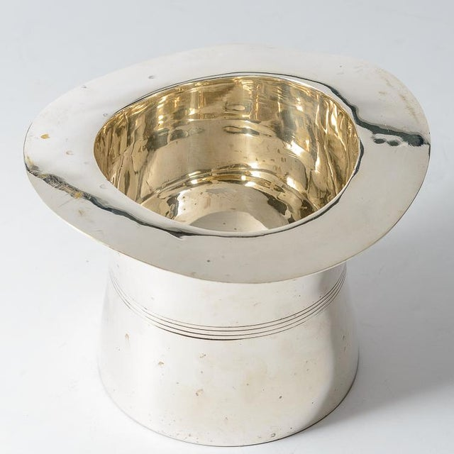 1960s Silver Plated Top Hat Champagne Bucket by Godinger For Sale - Image 5 of 12