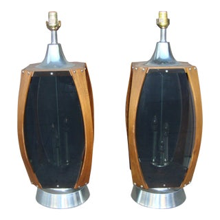 Mid Century Table Lamps - Pair For Sale