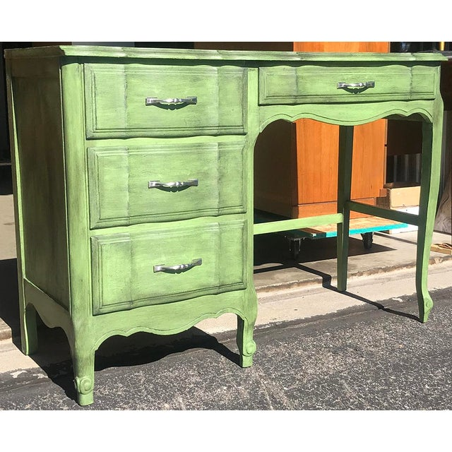 "French 1980s French Provincial Kent-Coffey ""The Maisonette"" Writing Desk For Sale - Image 3 of 13"