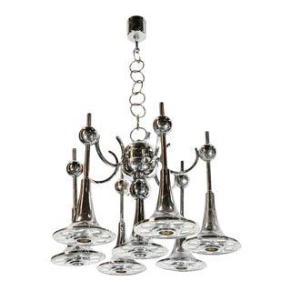Trumpets Chandelier by Sciolari For Sale