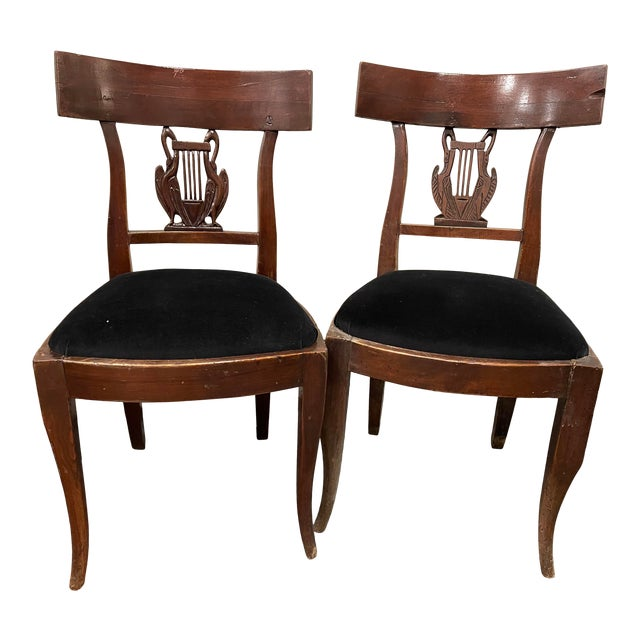 Early 19th Century Antique Side Chairs - a Pair For Sale