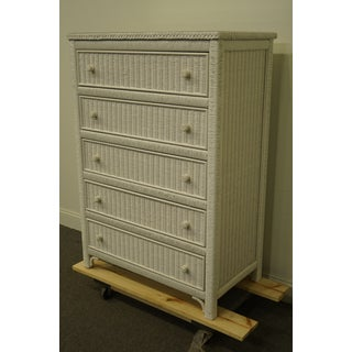 """Lexington / Henry Link White Wicker 34"""" Chest of Drawers 477-307 Preview"""