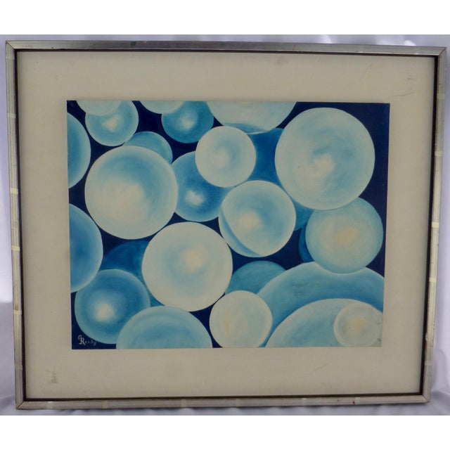 """Bubbles"" a Pop Geometric Modern Mid Century Painting For Sale - Image 13 of 13"