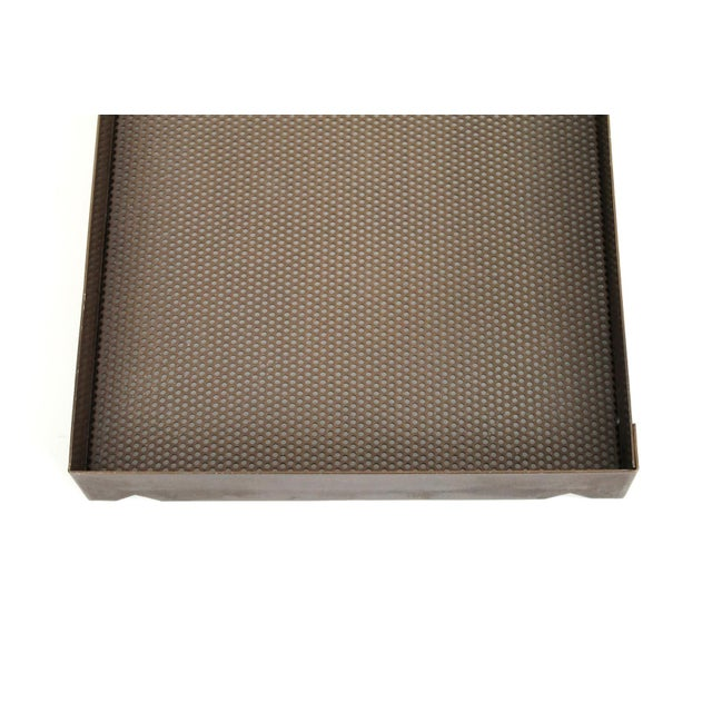 Architectural Bronze Mesh Letter Tray For Sale - Image 11 of 13