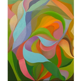 Abstract Colorful Oil Painting by Andrea Ferrigno, La Canicule For Sale