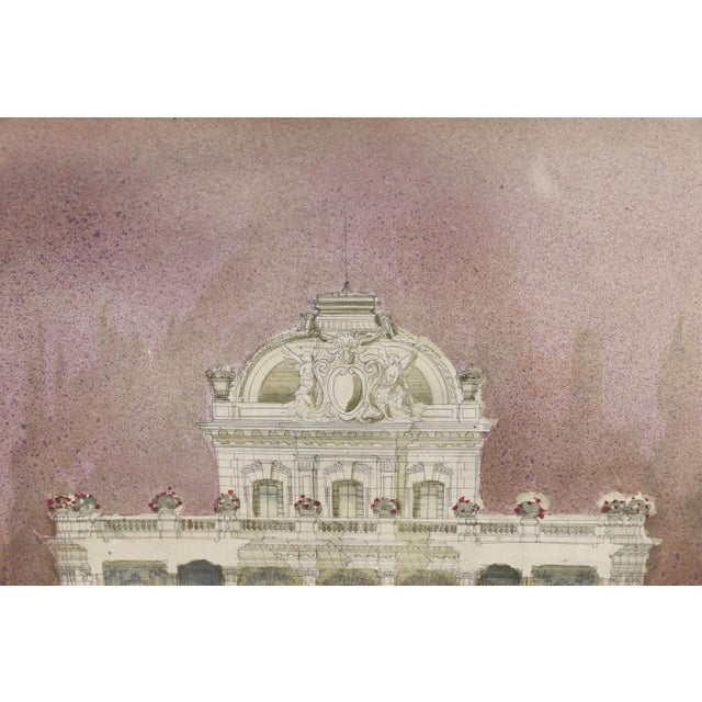 Illustration Watercolor Architectural Rendering For Sale - Image 3 of 6
