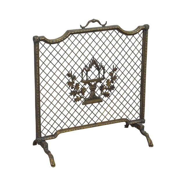 Maitland Smith French Louis XV Style Rococo Bronze Fire Screen For Sale - Image 13 of 13
