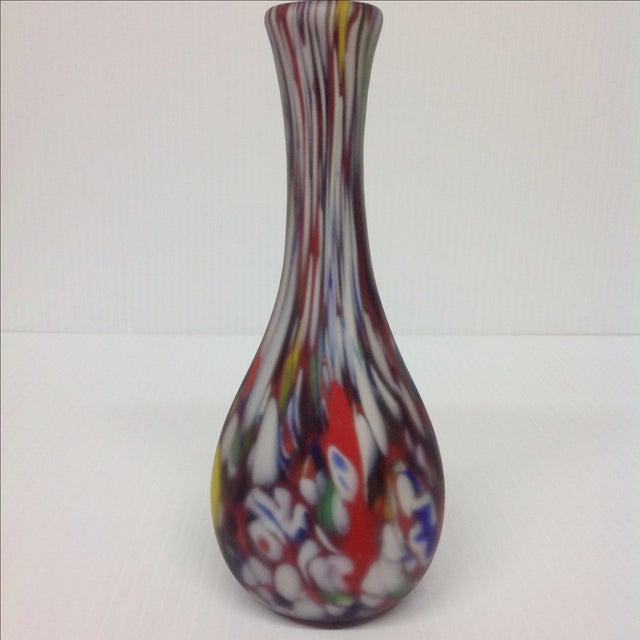 Dino Martin for AVEM Murano Glass Tutti Frutti Vase. Red base glass with matte finish.
