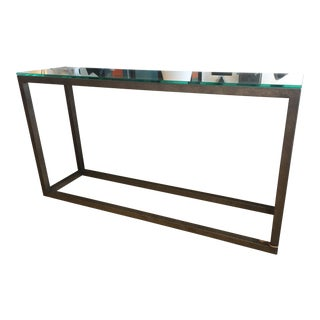 Contemporary Glass Top Console For Sale