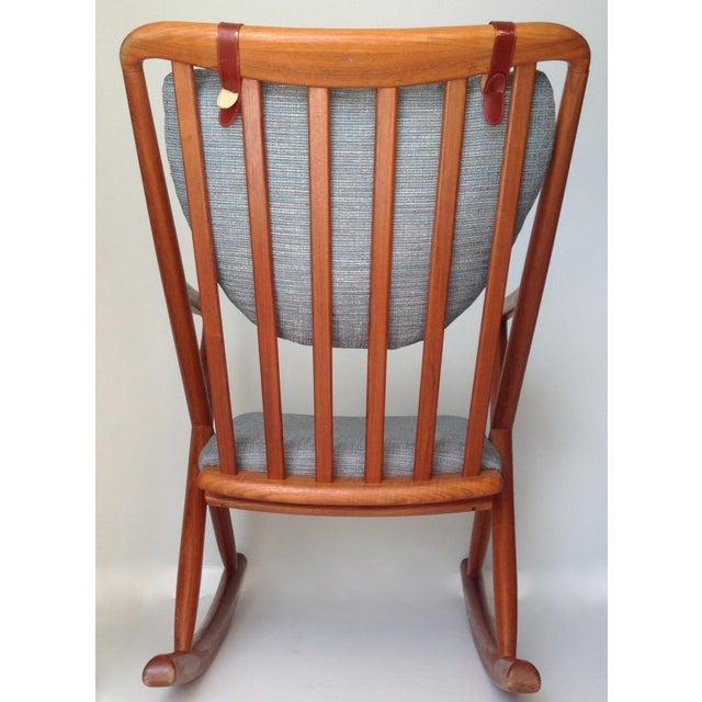 1960s Benny Linden Danish Mid-Century Teak Rocking Chair For Sale - Image 5 of 11