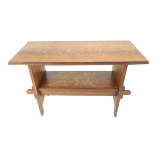 Pennsylvanian Mission Arts and Crafts Oak Library / Console Table