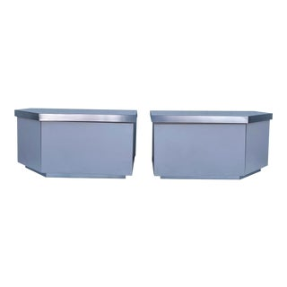 Pair Modern Retro Nightstands For Sale