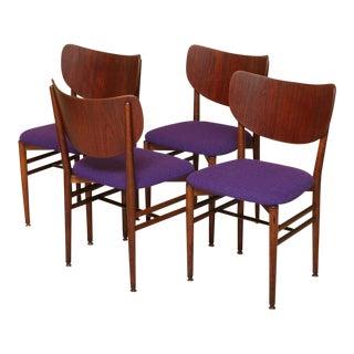 Eva & Nils Koppel Midcentury Modern Fumed Oak Dining Chairs, Denmark