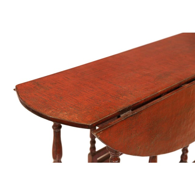 Red Red Lacquered English Table For Sale - Image 8 of 13