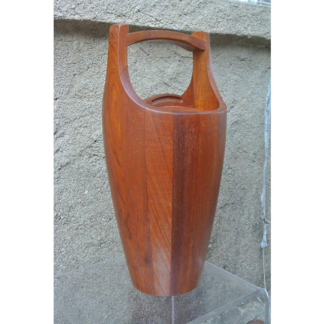 Mid-Century Modern Early Teak Ice Bucket by Jens Quistgaard for Dansk For Sale - Image 3 of 8