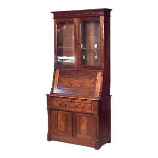 Victorian Walnut Secretary Desk For Sale