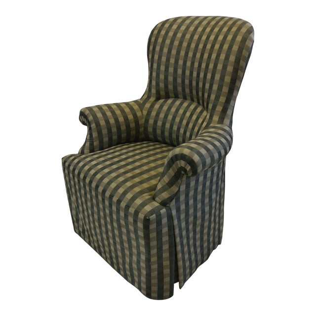 Skirted Gingham Armchair - Image 1 of 6