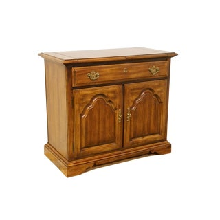 Late 20th C. Vintage American of Martinsville Solid Walnut Flip-Top Server Sideboard For Sale