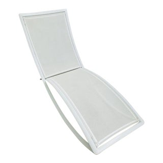 Ego Paris White Chaise Lounge